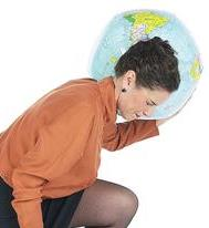 Woman with world on her shoulders