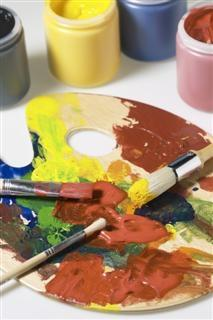 Paints on a Palette