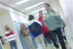 Students in Corridor