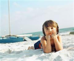 Small Girl on Beach